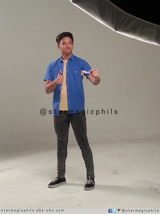 BEHIND-THE-SCENES: Daniel Padilla at the print shoot of latest endorsement