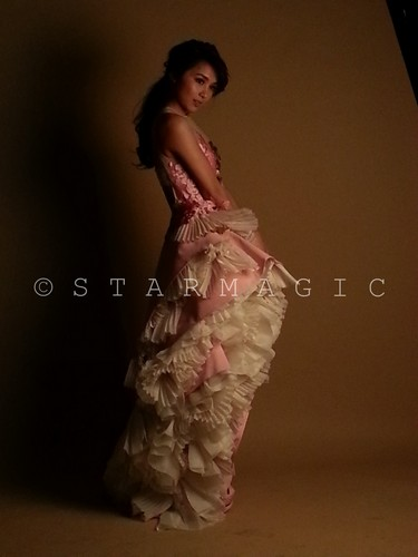 Behind-the-scenes photos of Kathryn Bernardo at the 100 Most Beautiful Pictorial